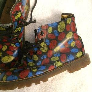 Dr. Martens Shoes - Rare Doc Marten Fingerprint boots
